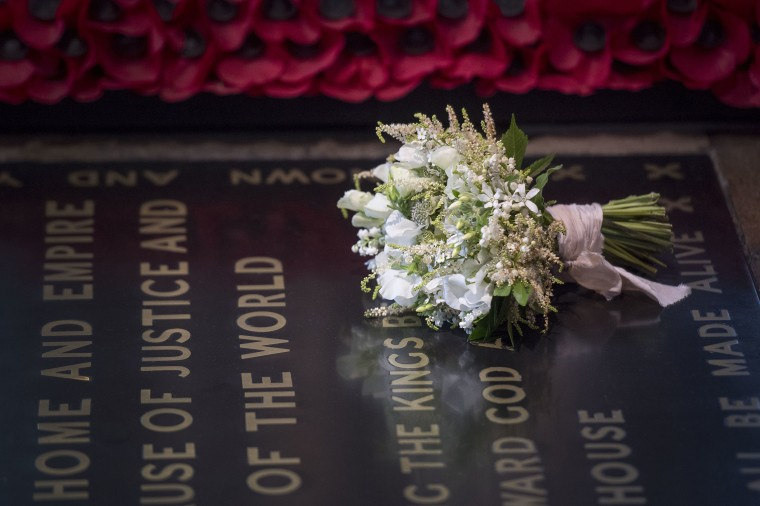 Image: The Duchess of Sussex's Wedding Bouquet Rests On The Grave of The Unknown Warrior