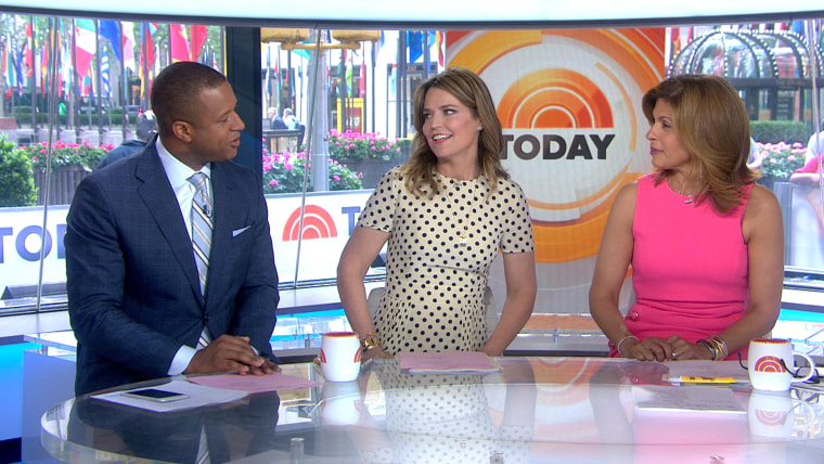 Craig Melvin, Savannah Guthrie and Hoda Kotb