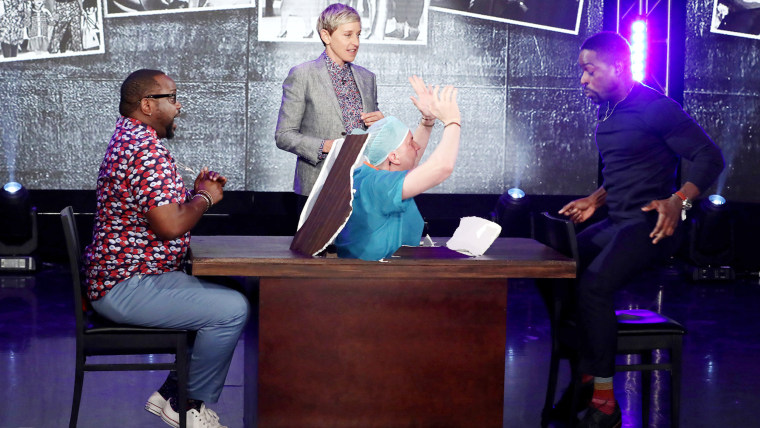 """This is Us"" actor Sterling K. Brown during a taping of ""The Ellen DeGeneres Show"""
