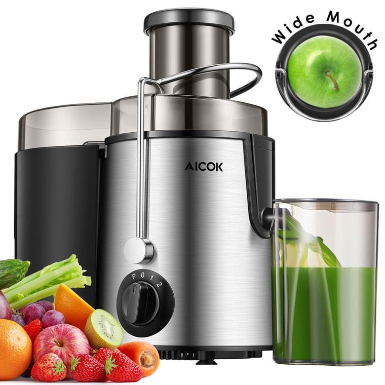 Aicok Aicok Juicer Juice Extractor BPA Free Premium Food Grade Stainless Steel Dual Speed Setting Juicer Machine, 400W