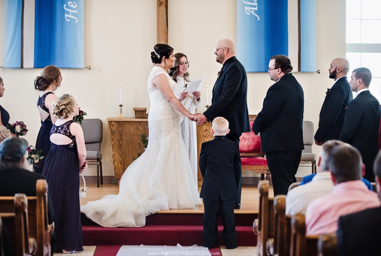 From wedding photos to hair and makeup for the bridal party, community members stepped forward to donate their services on Eric and Holly's wedding day.