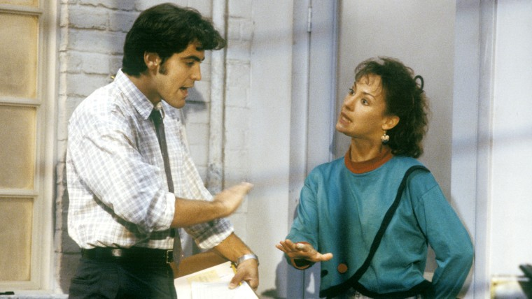 "George Clooney, Laurie Metcalf on ""Roseanne"""