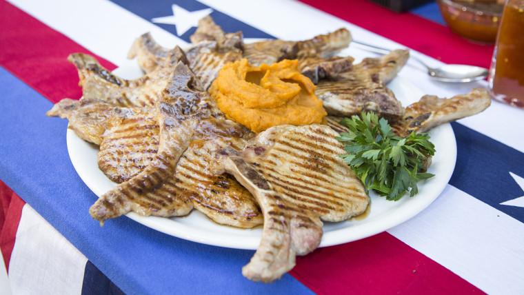 Sunny Anderson's pork chops and sweet potato mash
