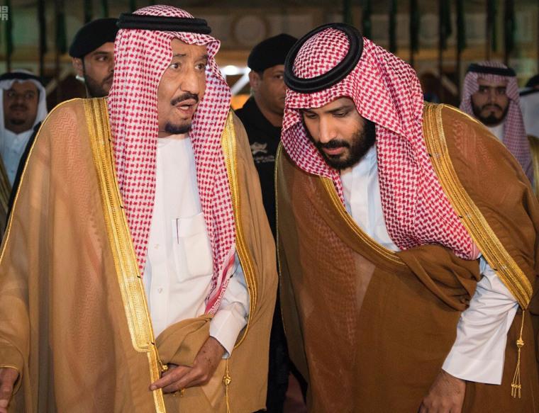 Image: King Salman bin Abdulaziz Al Saud and Crown Prince Mohammed bin Salman