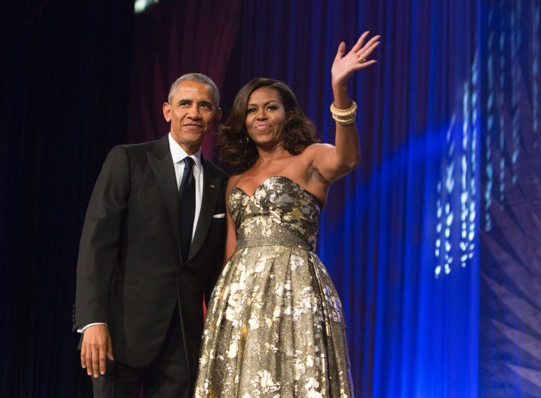 Image: Barack and Michelle Obama