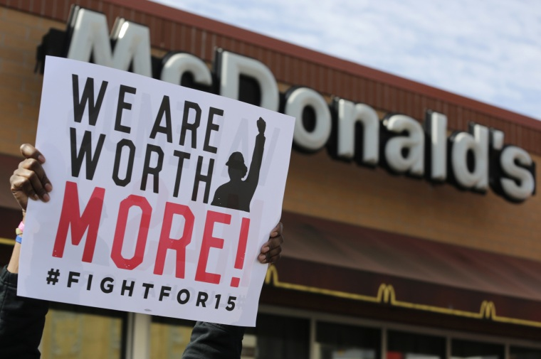 Image: McDonald's Fight for $15