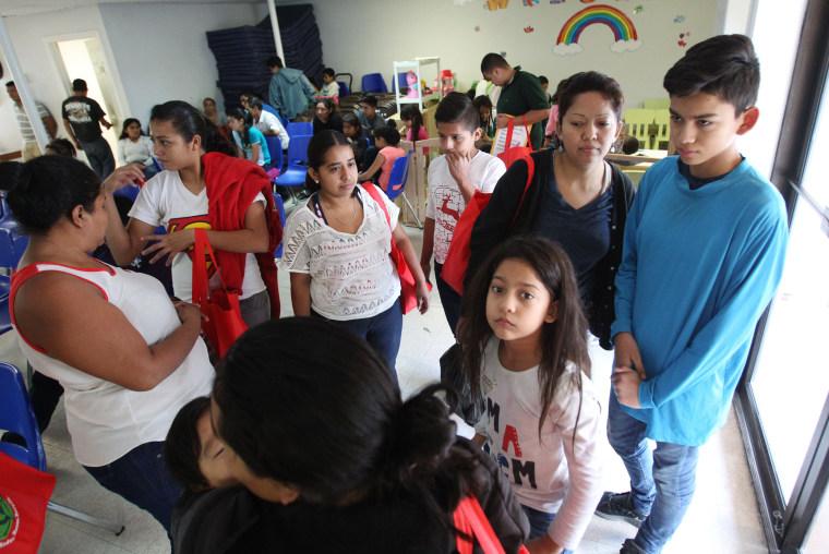 Image: Families at the Catholic Charities Humanitarian Respite Center