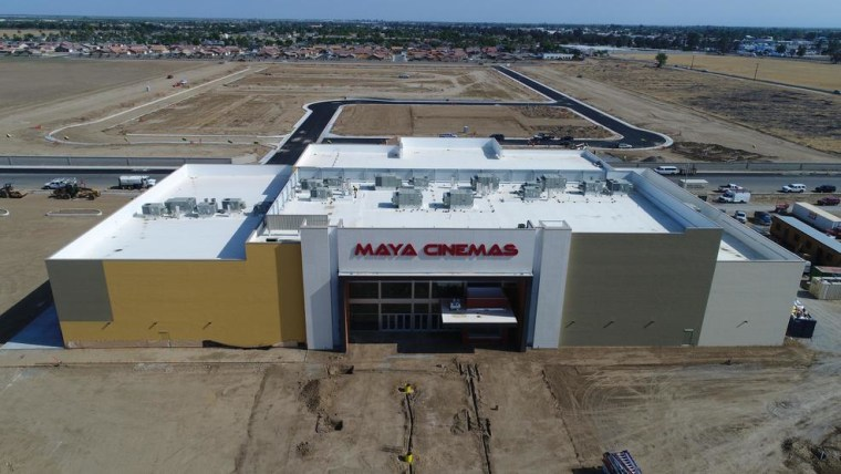 The new Maya Cinemas theater in Delano, California, just days before its opening.