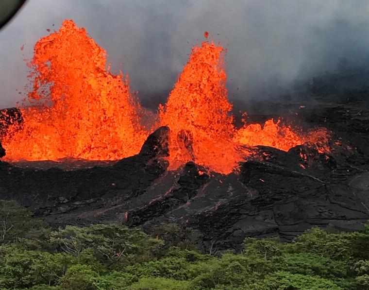 Image: Lava fountain from the Kilauea volcano