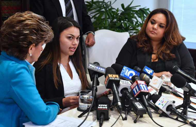 Image: Gloria Allred, Daniella Mohazab and Angela Esquivel Hawkins
