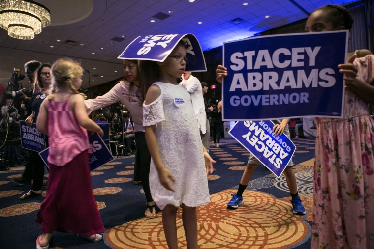 Image: Georgia Democratic Gubernatorial Candidate Stacey Abrams Holds Primary Night Event In Atlanta