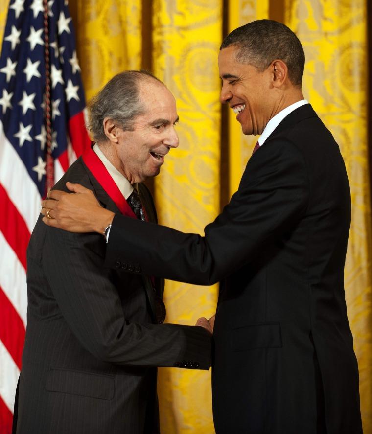 Image: Philip Roth and Barack Obama