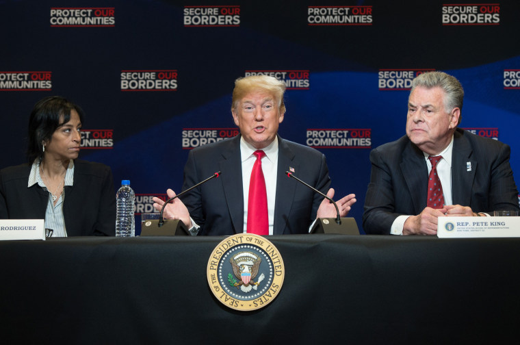 Image: Donald Trump immigration roundtable