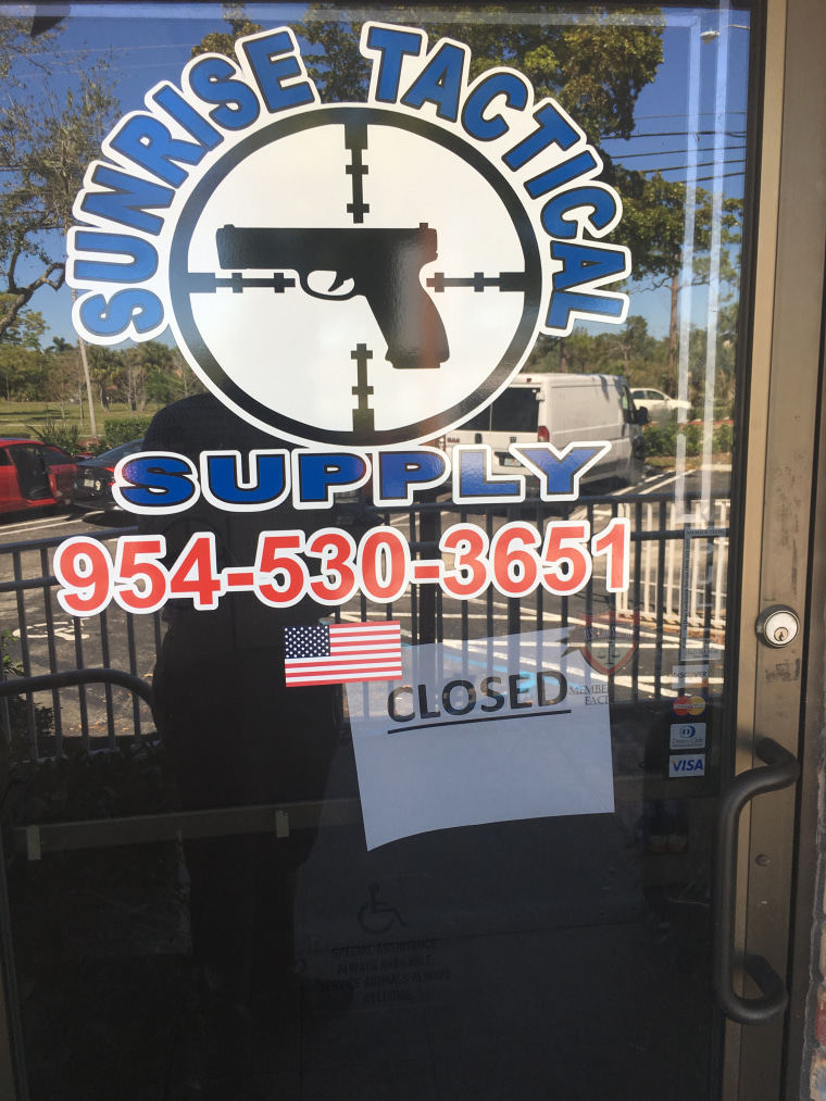 The store in Coral Gables, Florida, where it is believed Nikolas Cruz allegedly purchased the assault rifle used to commit the Stoneman Douglas shooting massacre.