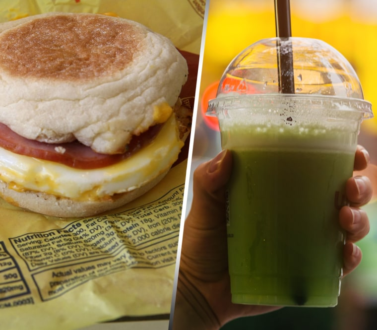 Image: Egg McMuffin and Green Juice