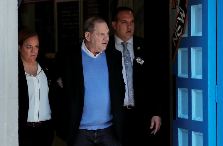 Image: Harvey Weinstein leaves the 1st Precinct