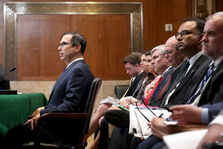 Image: Treasury Secretary Steven Mnuchin Testifies To Senate Appropriations Committee On Department's Budget