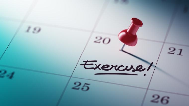 Image: Exercise calendar