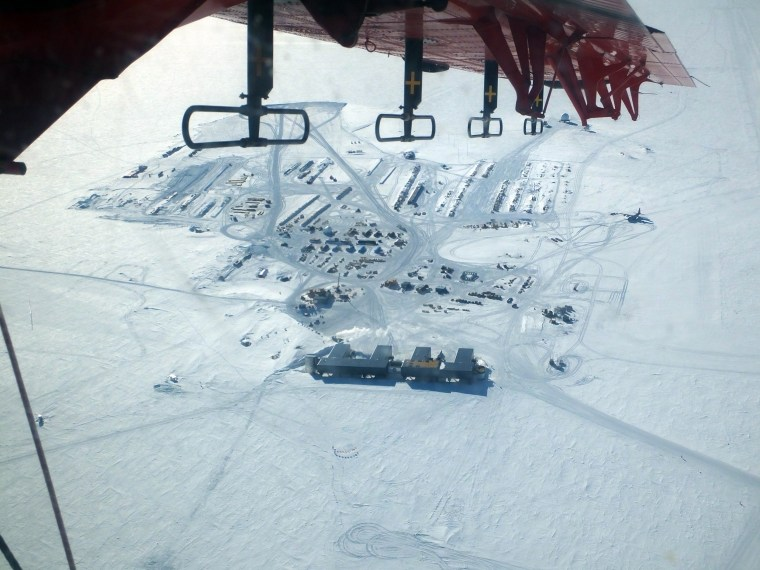 Image: U.S. Amundsen-Scott South Pole Station aerial