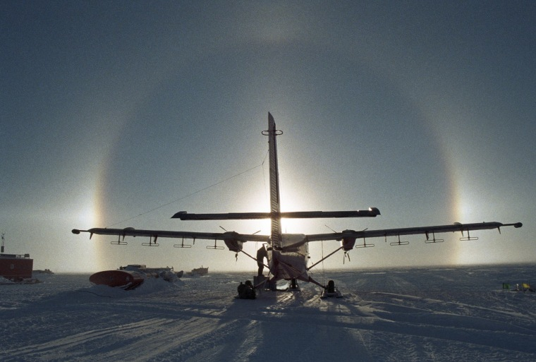 Image: BAS geophysical survey equipment Twin Otter