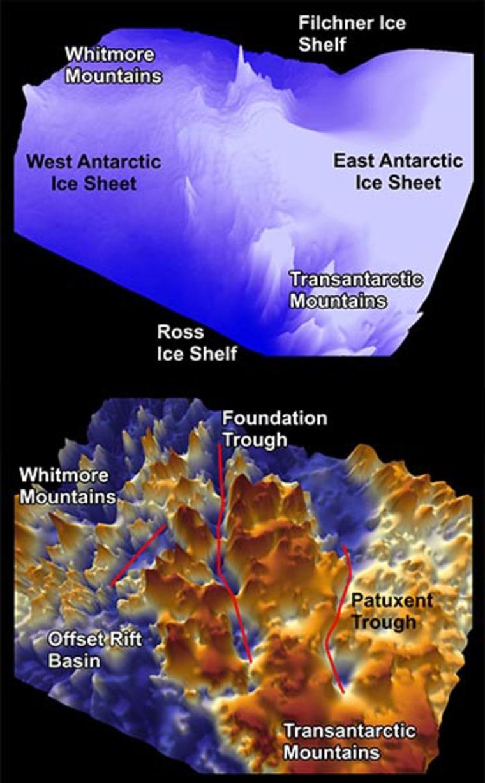 Image: Antarctica troughs