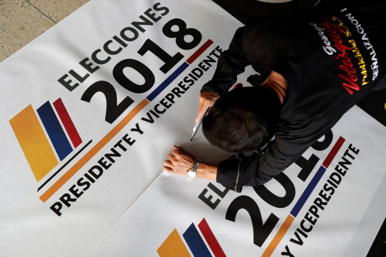 Image: Preparations ahead of the May 27 presidential election, in Bogota