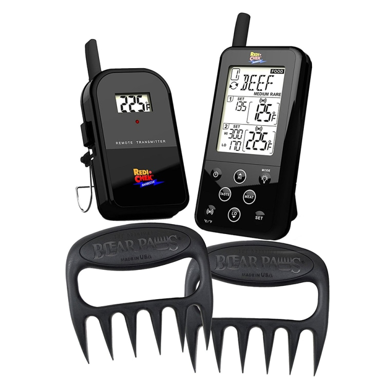 Maverick ET-733 Wireless BBQ Meat Thermometer - Includes Original Bear Paws Meat Shredder - Master the BBQ and Smoker Without Being There