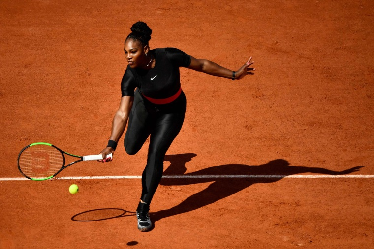 Serena Williams dedicated her catsuit to new moms