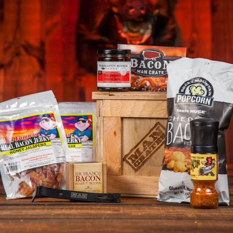 best grandpa gifts - bacon crate
