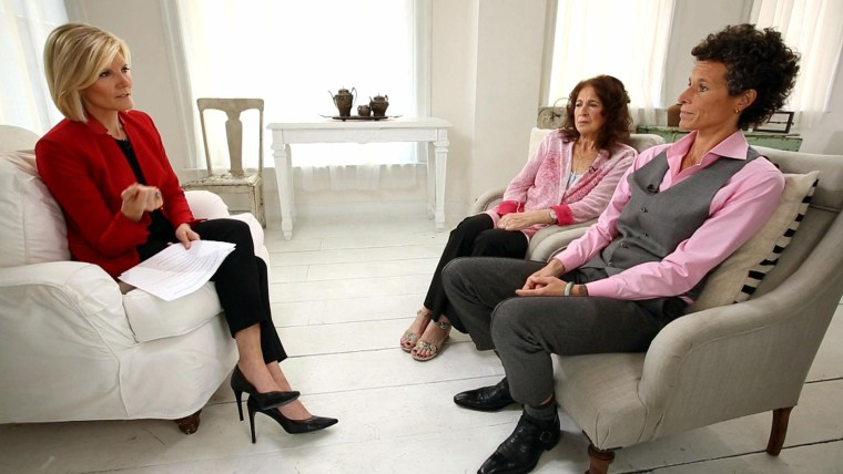 Andrea Constand with her mom, interviewed by Kate Snow