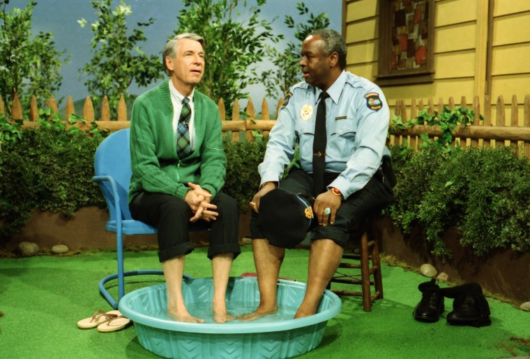 Fred Rogers with Francois Scarborough Clemmons