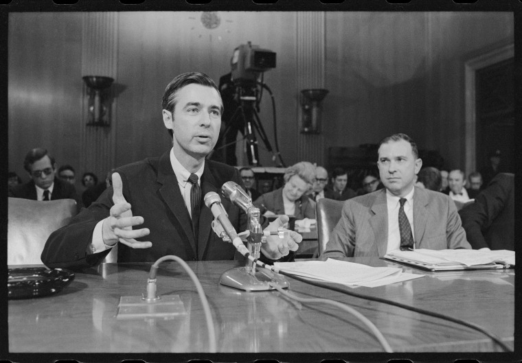 Fred Rogers testifying before the United States Senate