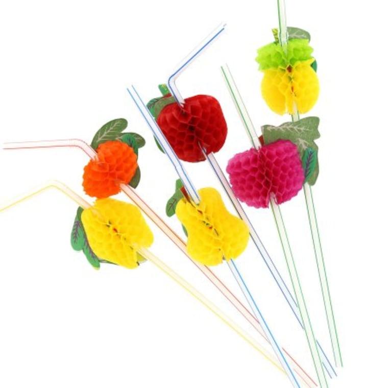 Royal Paper Fruit Straws