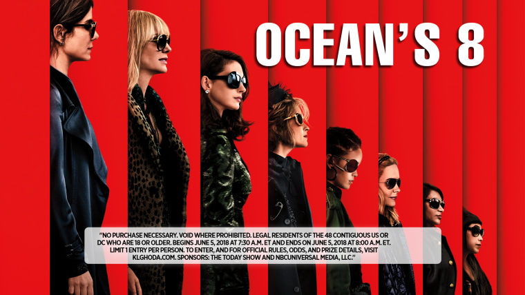 Visit the TODAY plaza for a chance at an 'Ocean's 8' surprise!