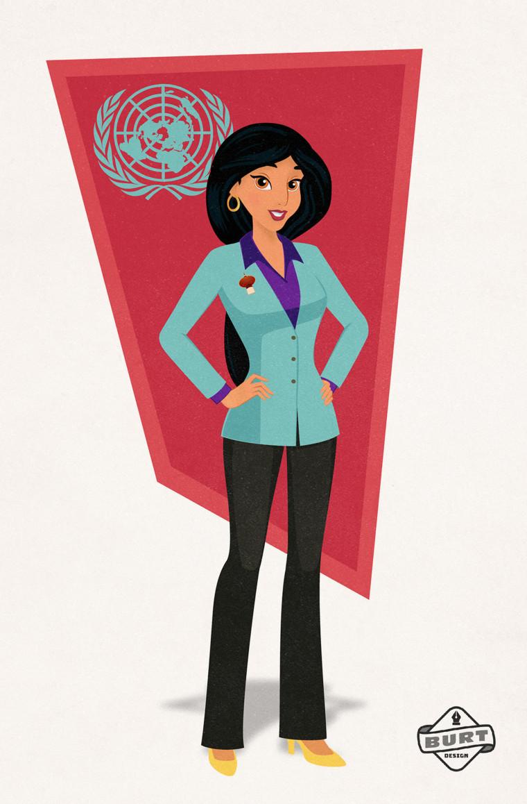 Disney princesses Jasmine Aladdin