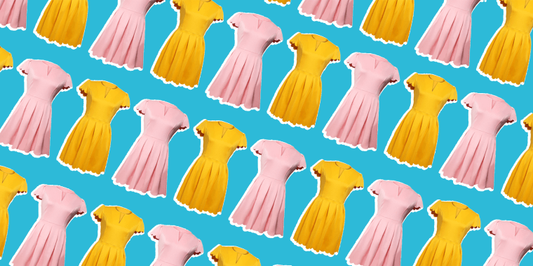 The bright dress looks good on everyone!