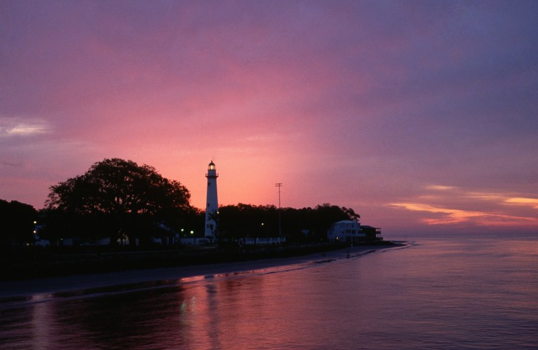Sunset Over Saint Simons Island Lighthouse