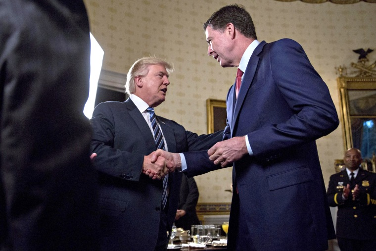 Image: Donald Trump Shakes Hands with James Comey