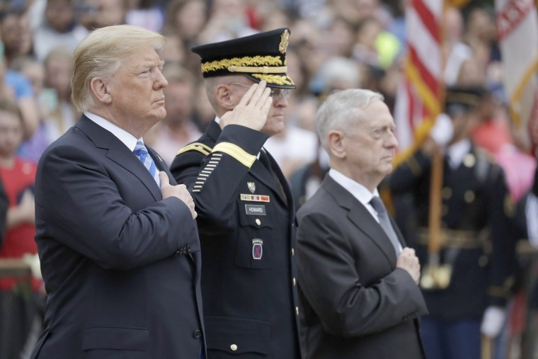 Image: President Donald Trump participates in a wreath laying ceremony at the Tomb of the Unknown Solider at Arlington National Cemetery, Monday, May 28, 2018, in Arlington, Virginia.
