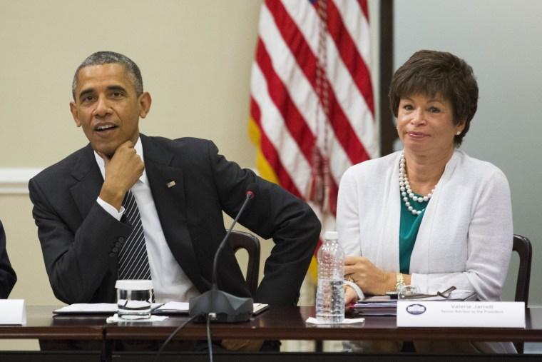 Image: Barack Obama and Valerie Jarrett