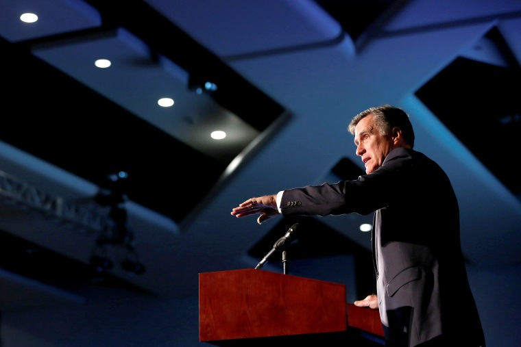 Romney speaks at the Utah County Republican Party Lincoln Day Dinner in Provo
