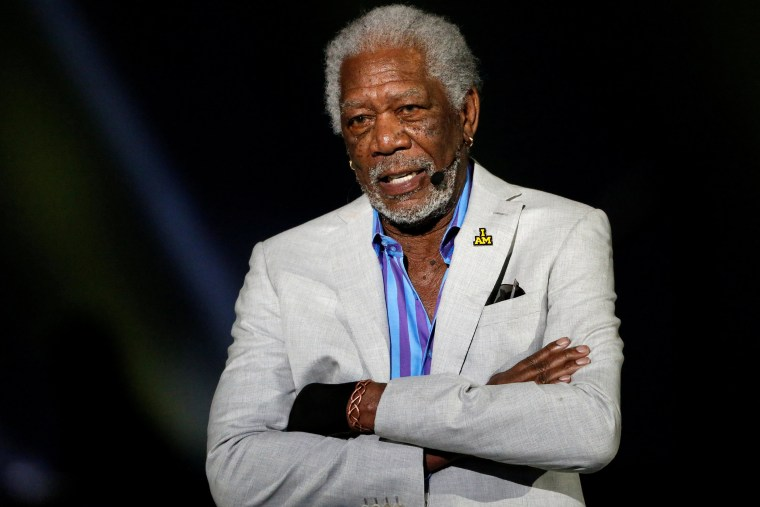 Image: Morgan Freeman speaks during the opening ceremonies of the Invictus Game