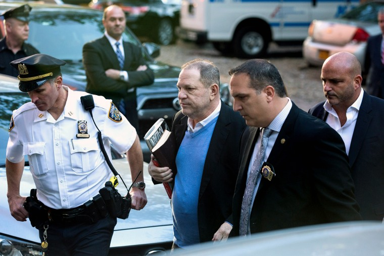 Image: Harvey Weinstein Turns Himself In After Sex Assault Investigation In NYC