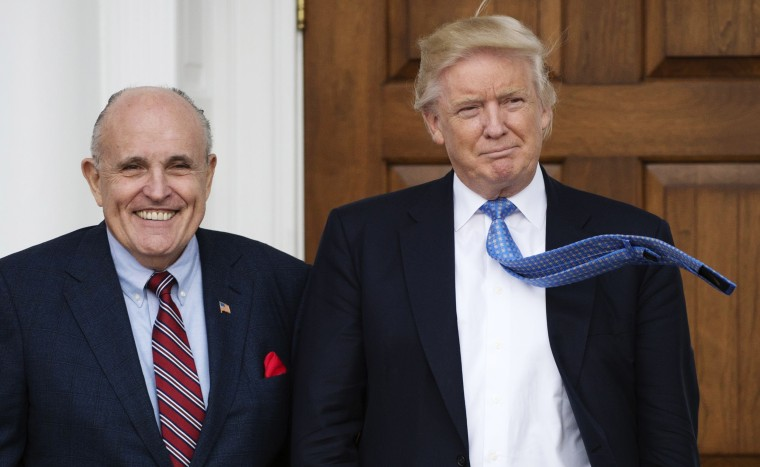 Image: Rudy Giuliani and Donald Trump