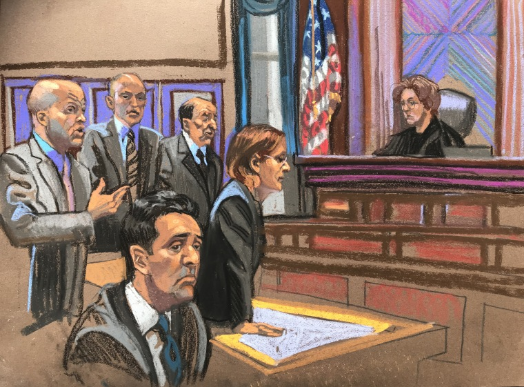 Image: Michael Cohen sits during a hearing in federal court