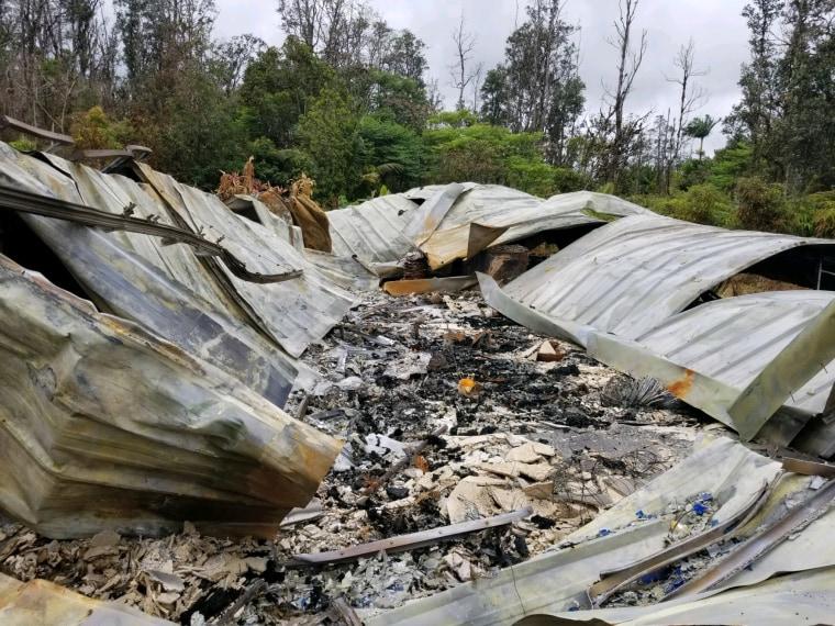 Image: Leilani Estates Home Destroyed