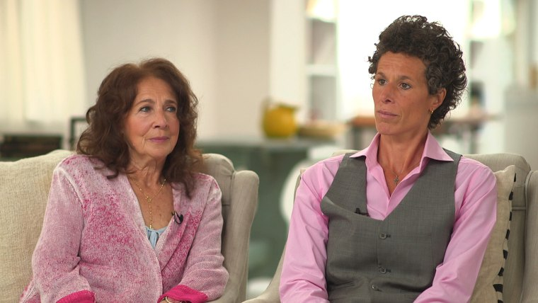 ImagE: Andrea Constand and her mother Gianna during an interview with Kate Snow on Dateline.