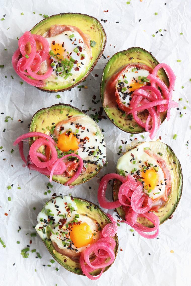 Egg Prosciutto Stuffed Avocado Boats