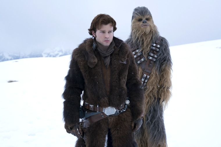 Image: Alden Ehrenreich is Han Solo and Joonas Suotamo is Chewbacca in Solo: A Star Wars Story.