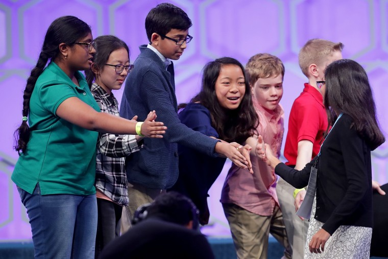 Image: Student Spellers Compete In 2018 National Spelling Bee